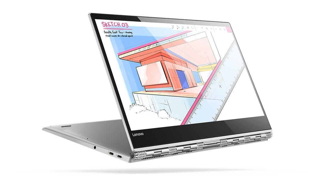 Фото3  Ультрабук Lenovo YOGA 920 Vibes (Glass) Platinum (80Y8004RRA)
