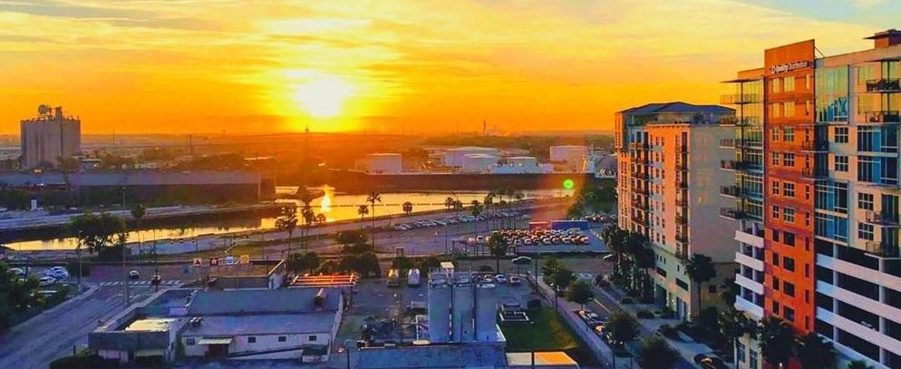 Sunrise in Channelside Tampa