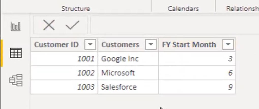 customer list table