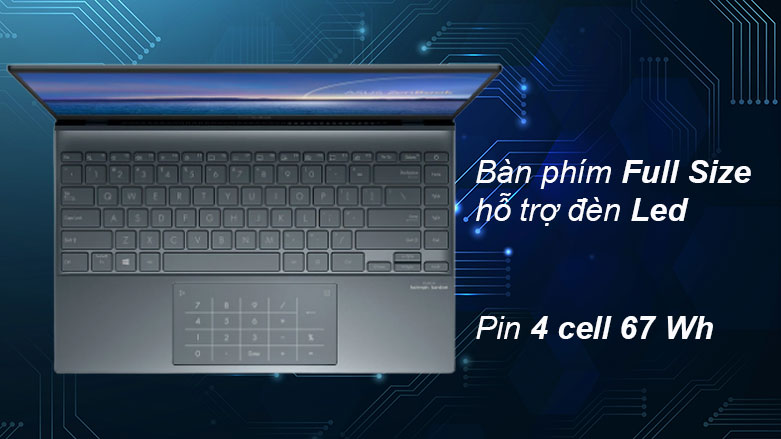 Laptop Asus UX425EA-KI429T | Bàn phím tiện dụng