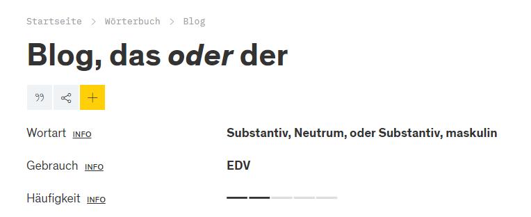Duden Definition Blog