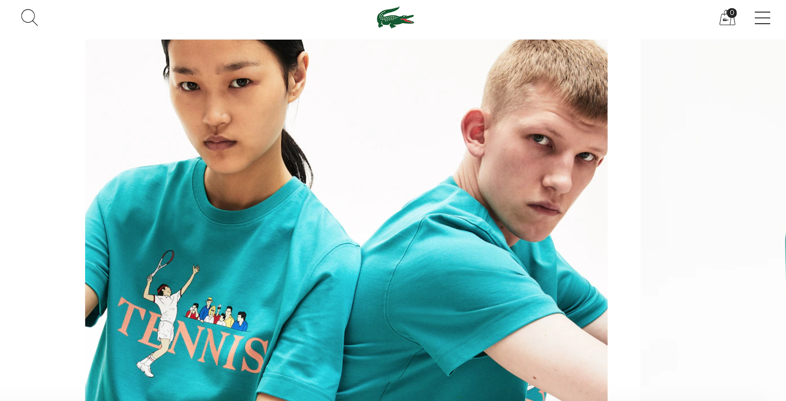 best product detail page examples lacoste