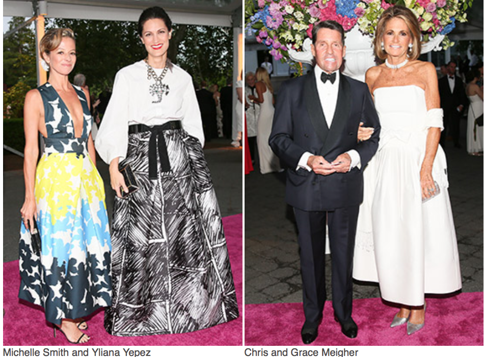 Say ALOHA! to the New York Botanical Garden Conservatory Ball as it celebrates Georgia O'Keeffe:  Visions of Hawai'i  with a fantastic luau themed event.Michelle Smith, Yliana Yepez, Chris and Grace Meigher