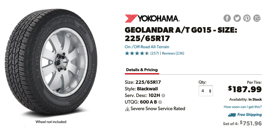 Yokohama Geolander G015