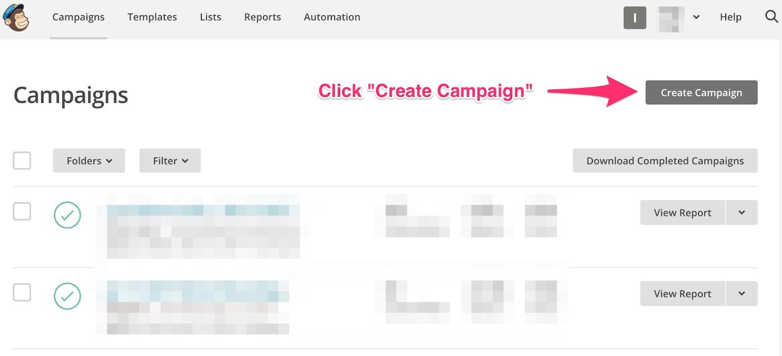 MC Create Campaign