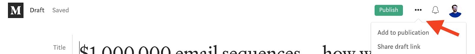 Add portfolio samples to publications on Medium