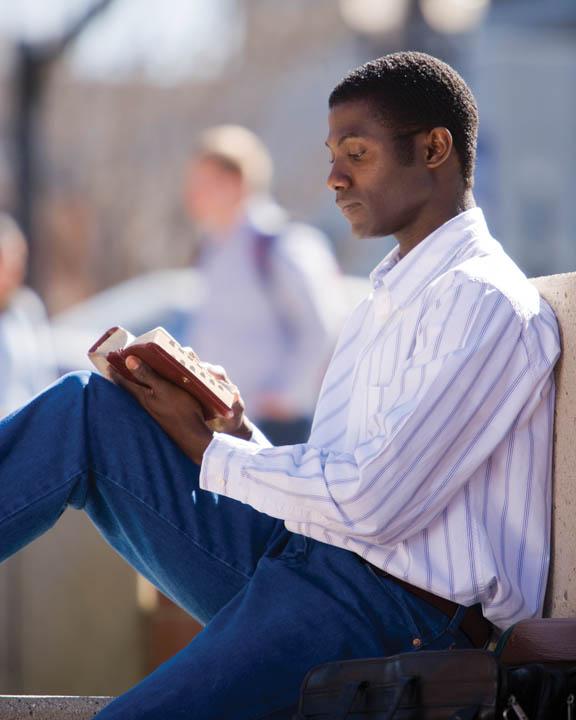 mormon reading scripture