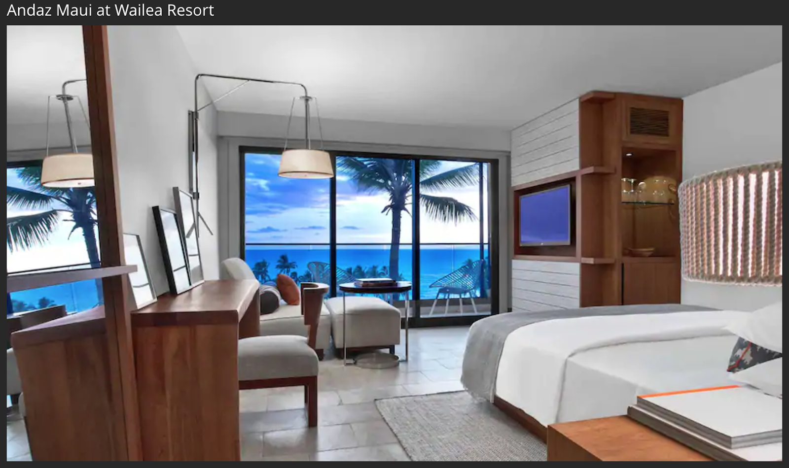 Andaz Maui at Wailea Resorts room with a beach view