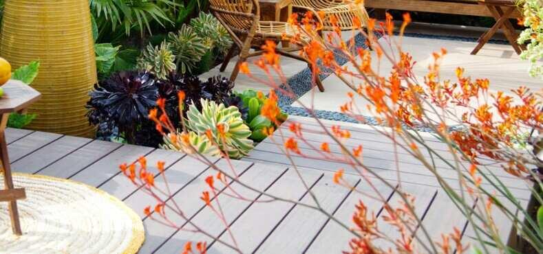 decking for sloping garden
