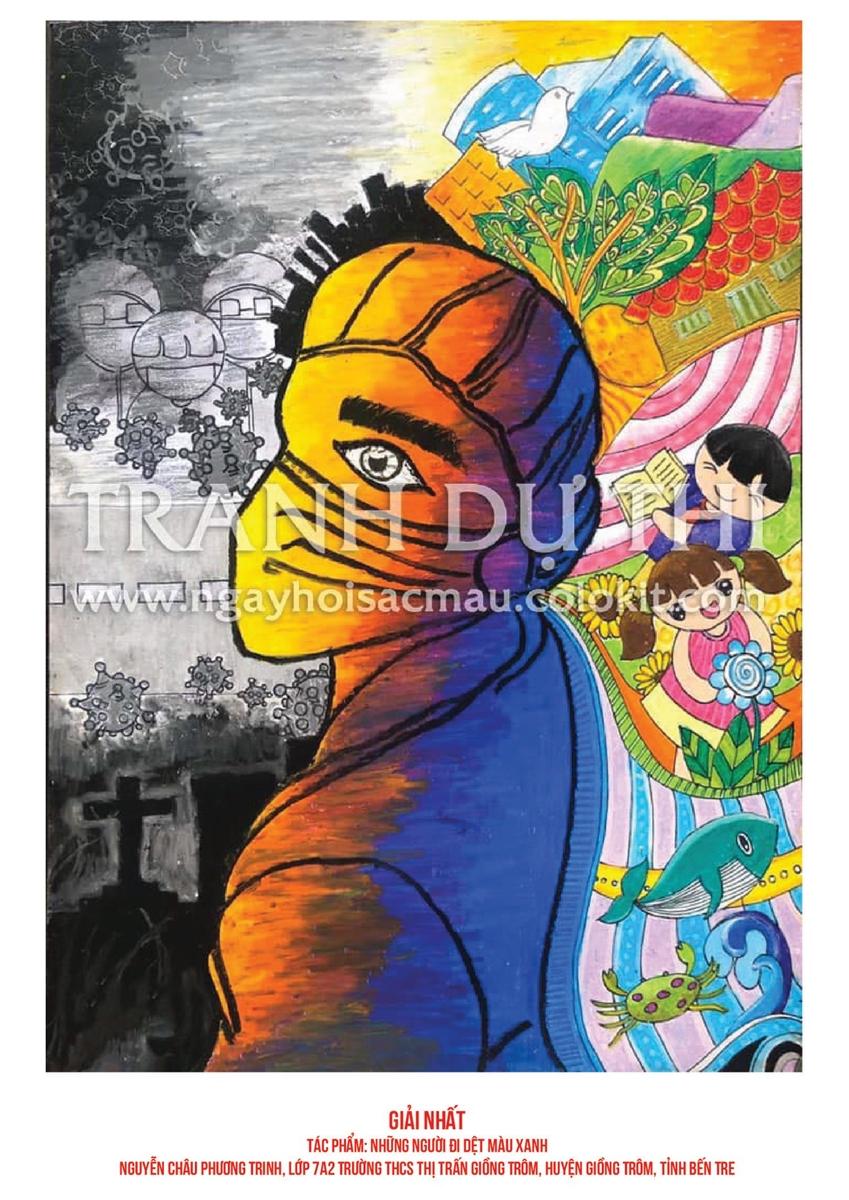 Phát động cuộc thi vẽ tranh ''Vững tin Việt Nam'': Thiếu nhi vẽ tranh cổ vũ tinh thần chống dịch