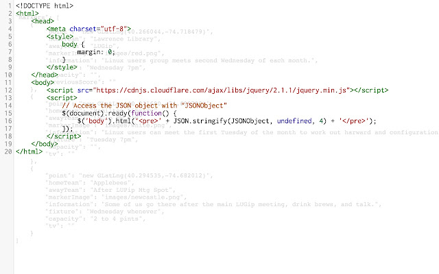 live editor for json documents