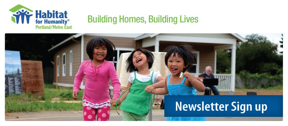 Habitat for Humanity Newsletter Sign up