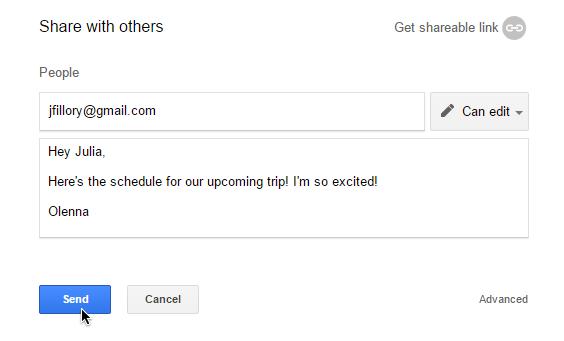 Screenshot of Google Drive