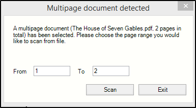 Multipage Scan Window