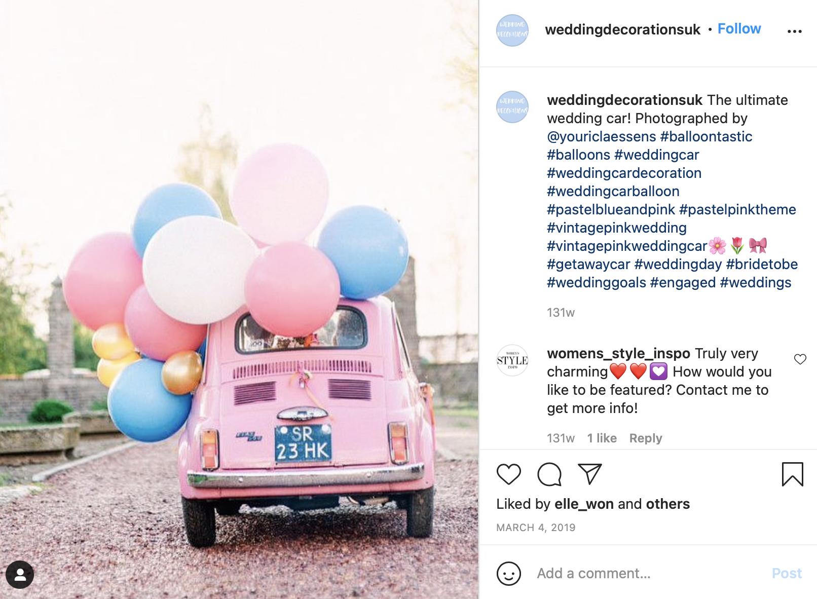 car balloon decor