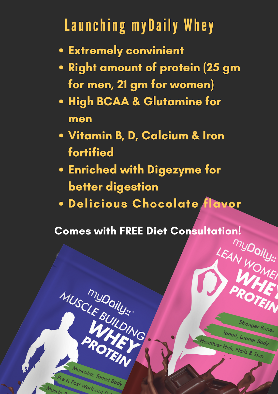 mydaily launched whey protein