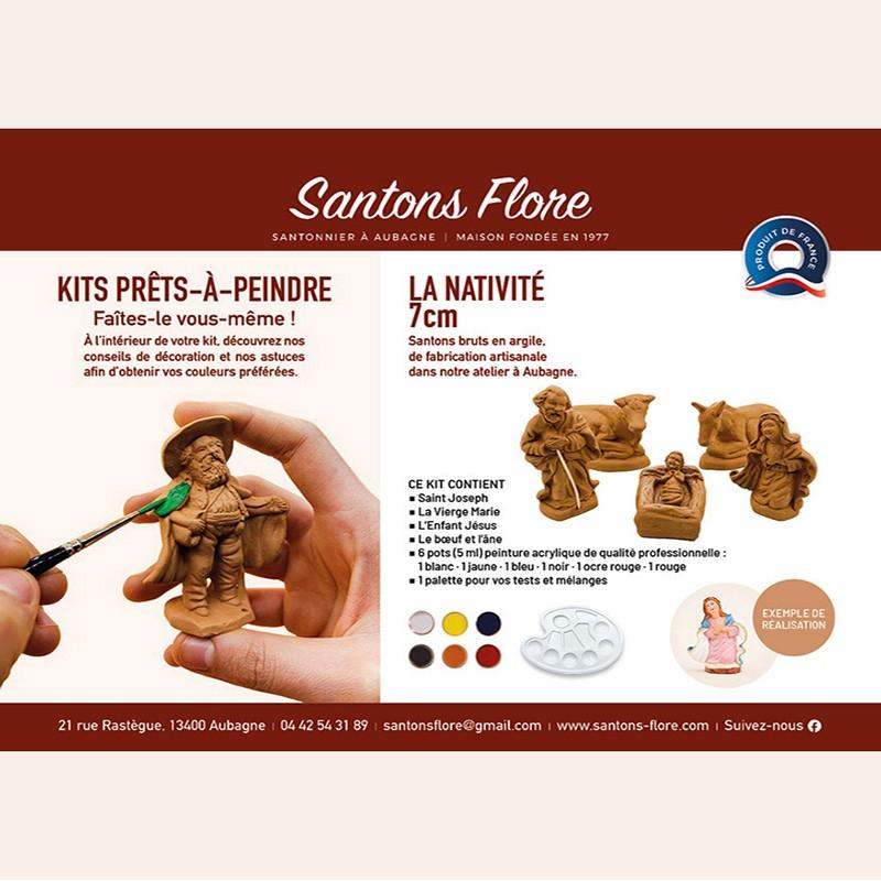 Coffret prêt à peindre santons de Provence Santons FLORE à Aubagne