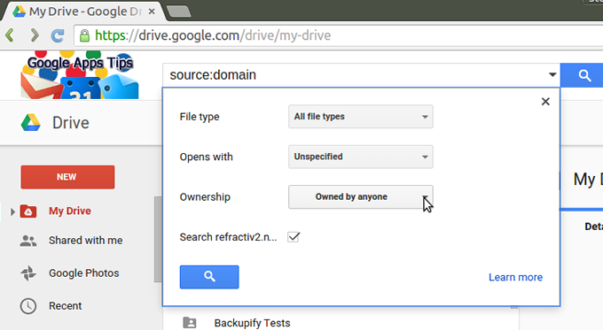 Advanced Searches On Google Drive G Suite Tips
