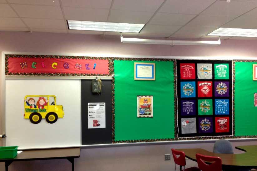 O mural da sala pode ser confeccionado com a ajuda das crianças. (Fonte: PXFuel)