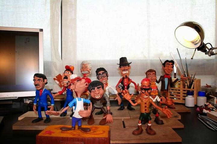 Caricaturas en Plastilina de Alfonso Horta 1