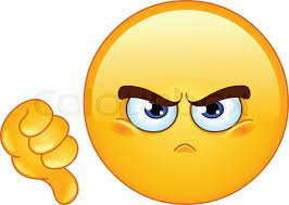 Dislike emoticon | Stock vector | Colourbox
