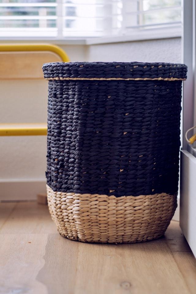 Basement Storage Idea - Baskets