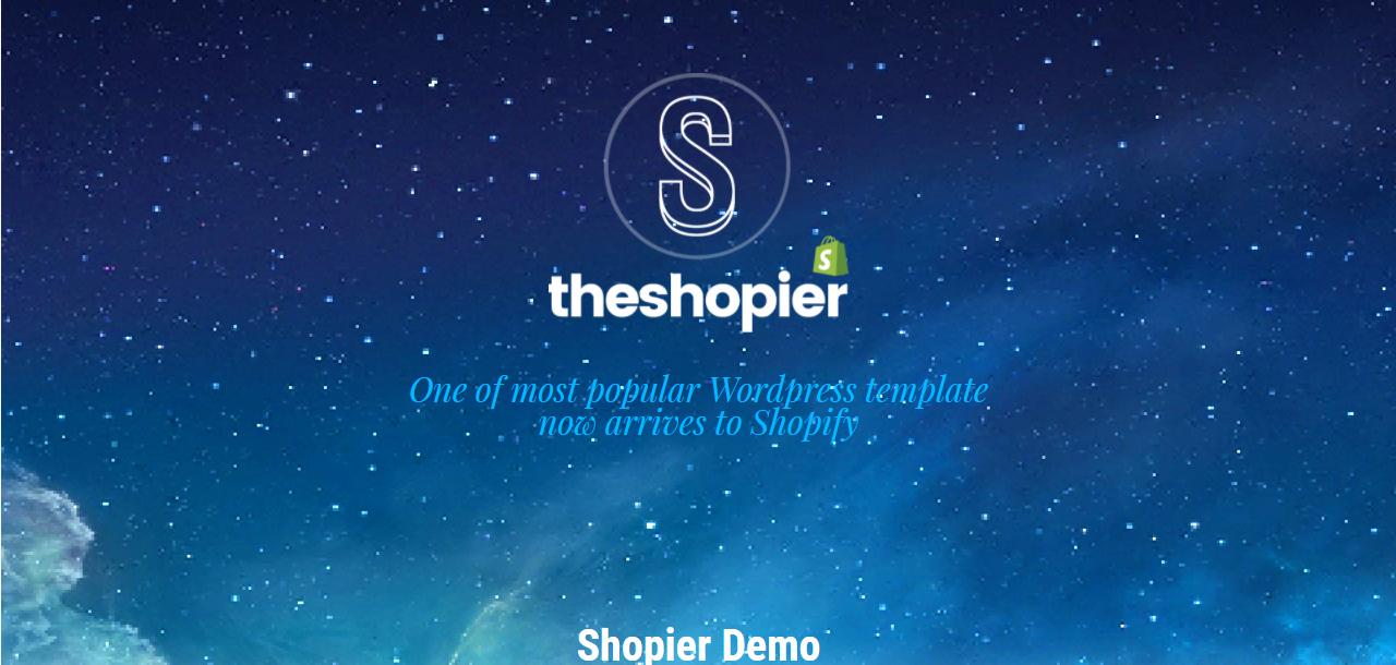 SHOPIER - Shopify bookstore theme