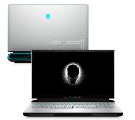 Imagem de um notebook da marca Dell modelo Alienware Area 51M R2