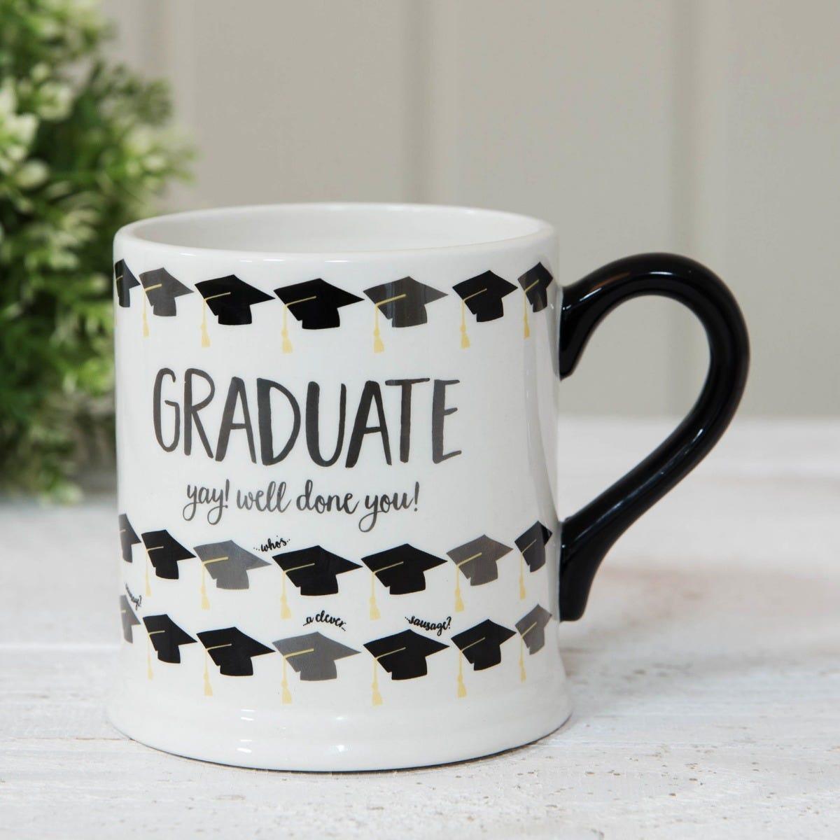Best graduation gifts; Clintons' wendy jones-blackett graduation mug