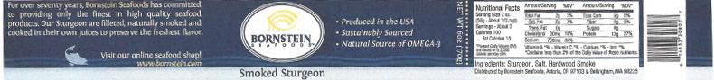 Label, Bornstein Seafoods Smoked Sturgeon