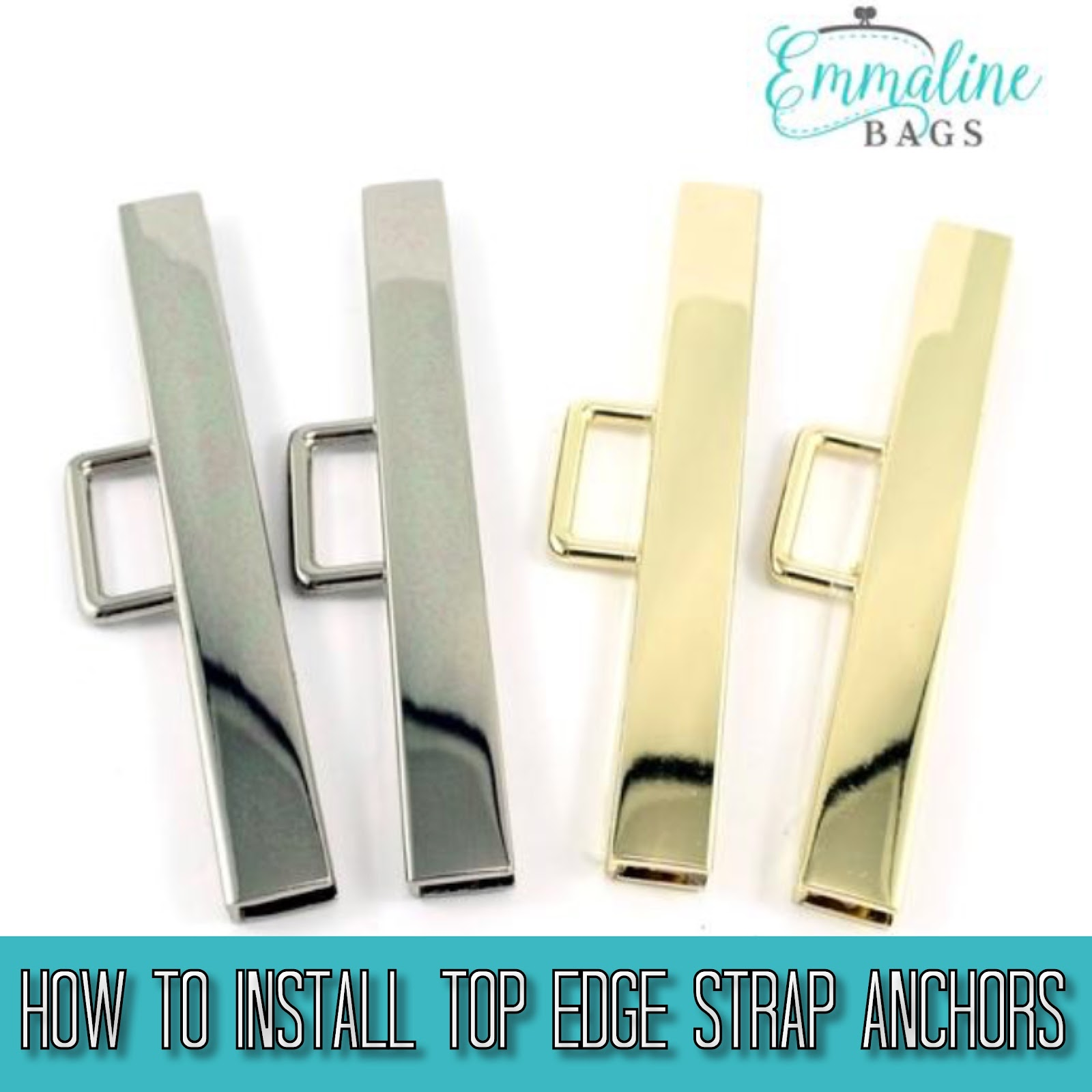 A strap anchor hardware installation bag making tutorial by Emmaline Bags