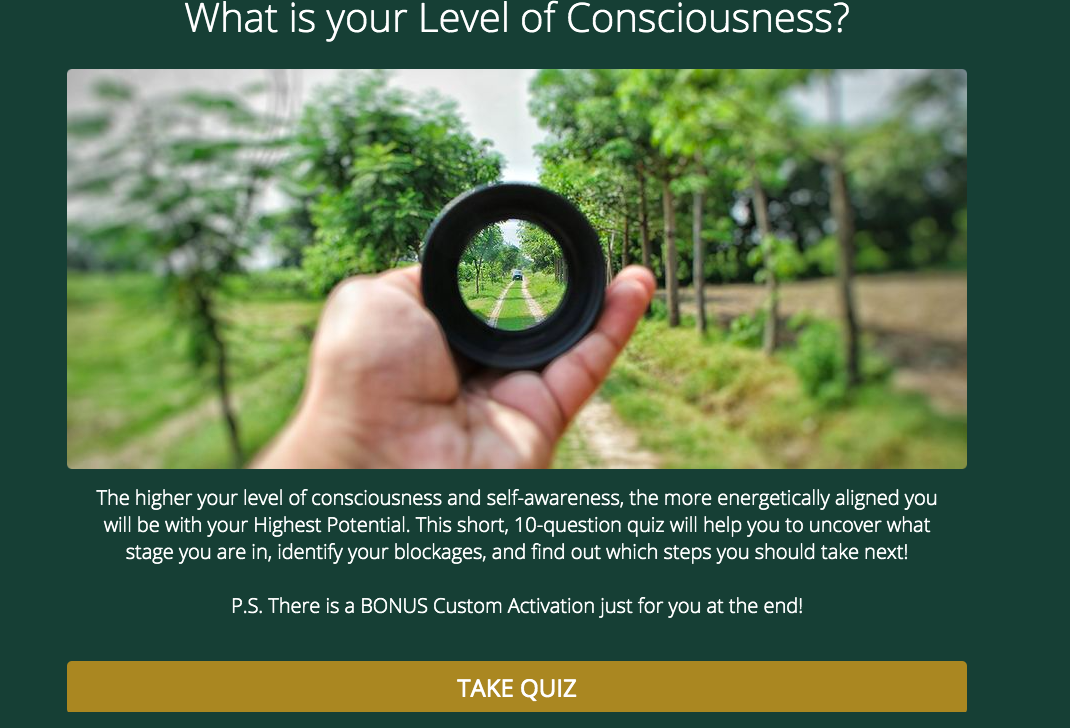 what is your level of consciousness quiz cover