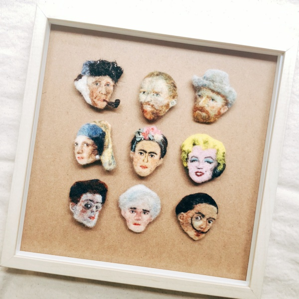 品品學堂-11月活動-羊毛氈肖像小畫框