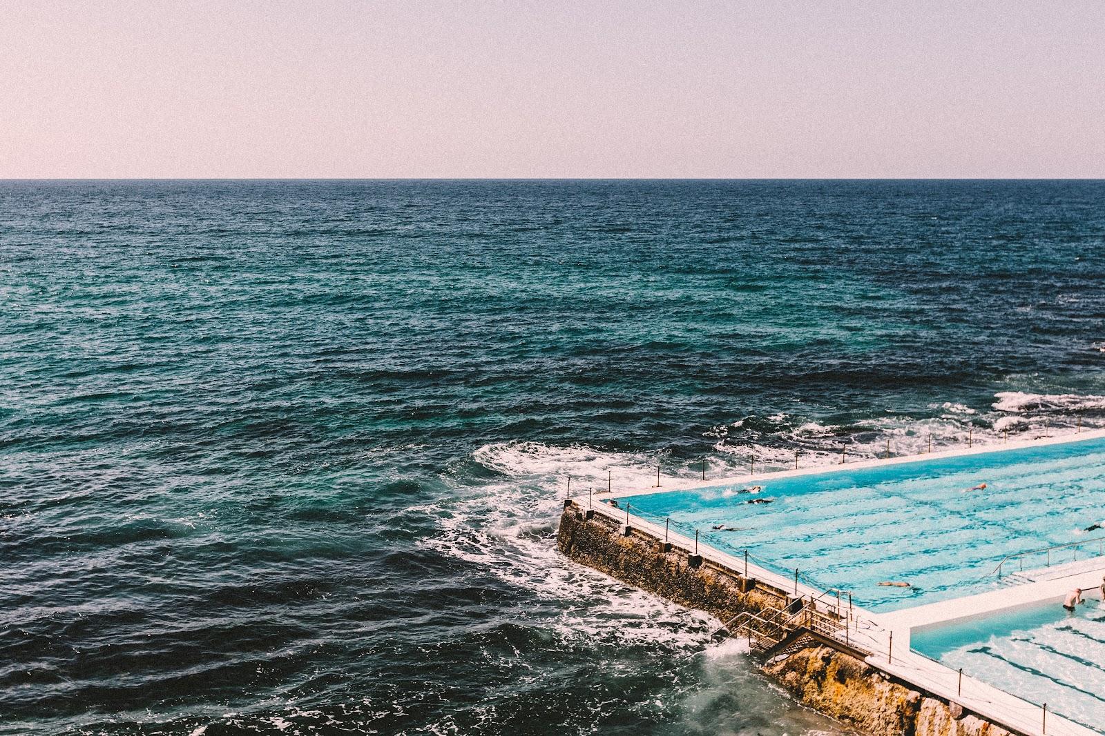 The iconic rock pool in Bondi Beach