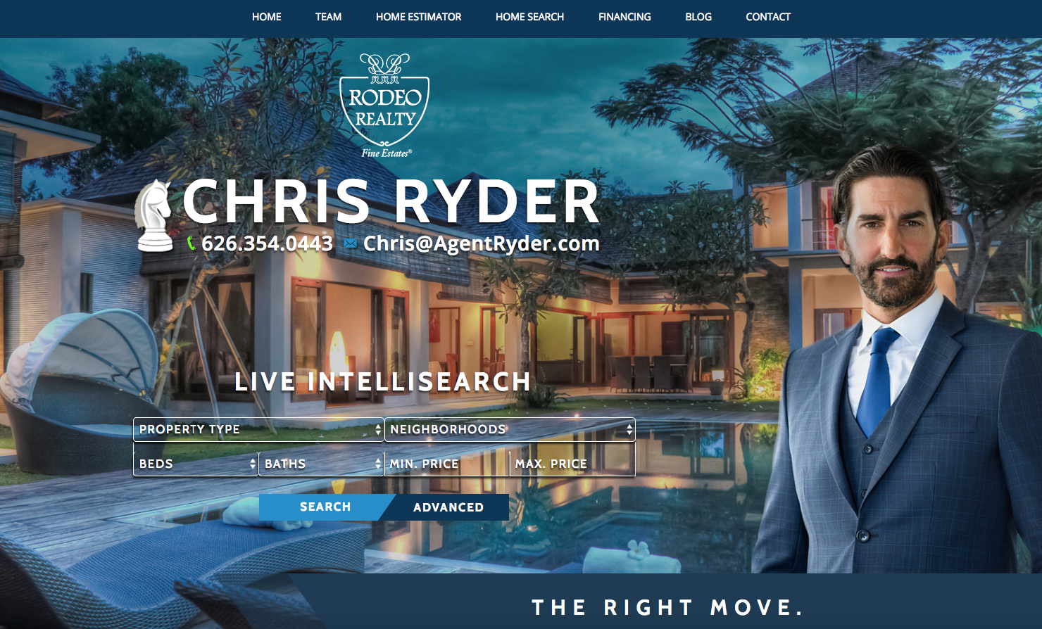 an example of a great realtor website