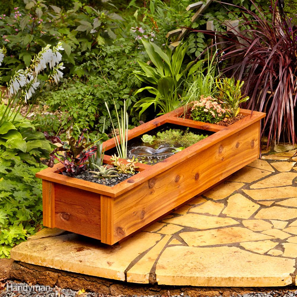 Patio Garden Pond and Planter: These 25 Woodworking Projects For The Garden will help you make some money.
