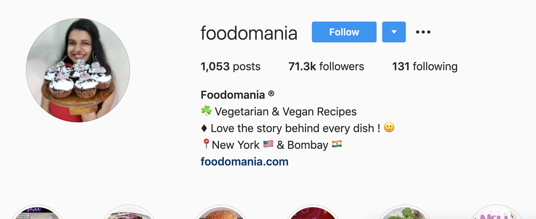Kavita Ram | Instagram Bio