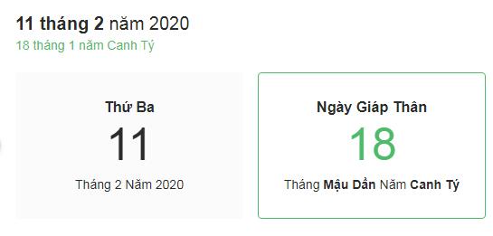 Dự đoán kết quả xsmb ngày 11/02/2020 theo phong thủy
