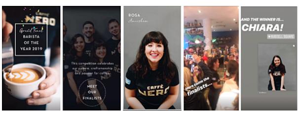 Caffe Nero Instagram Stories