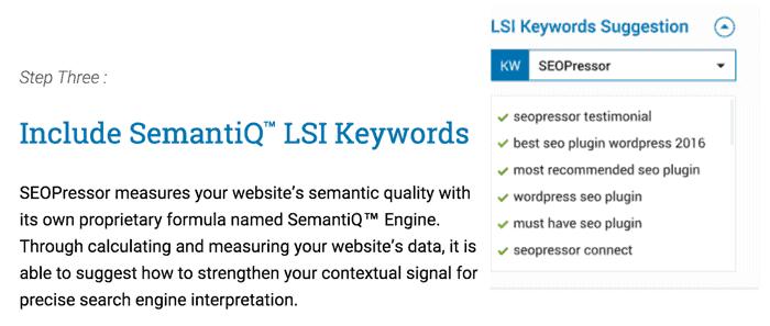 Đa dạng từ khóa & Tính năng LSI của SEOPressor