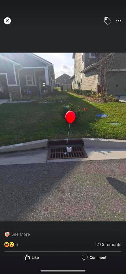 pennywise balloon TP covid meme