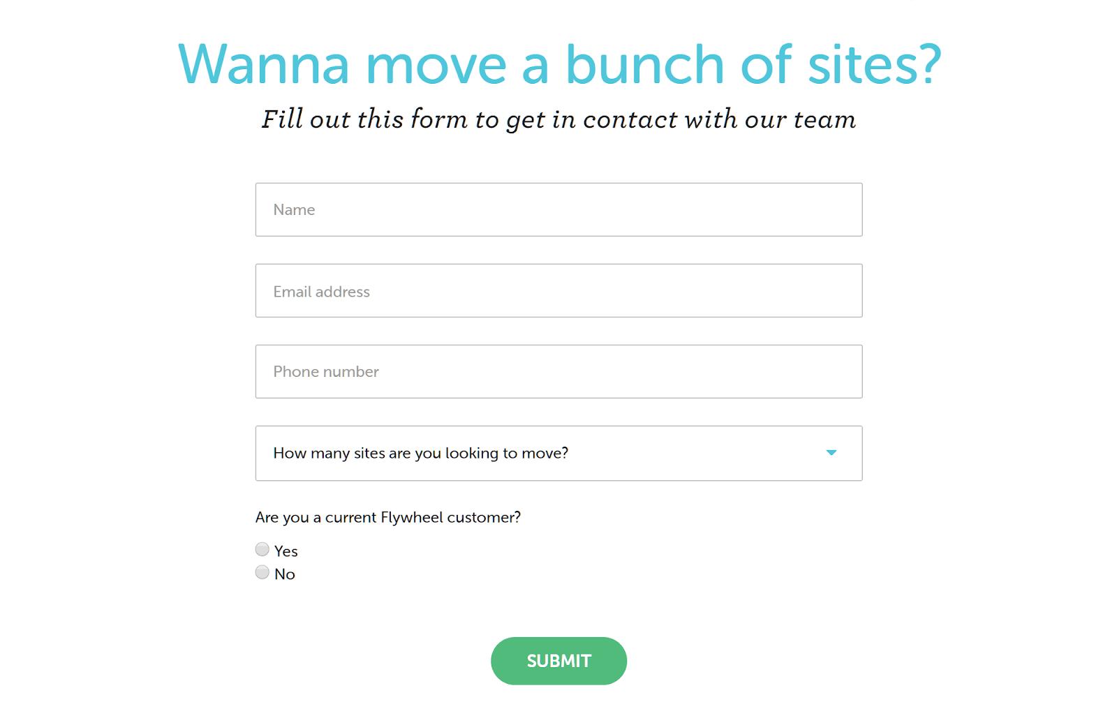 Biểu mẫu di chuyển trang web