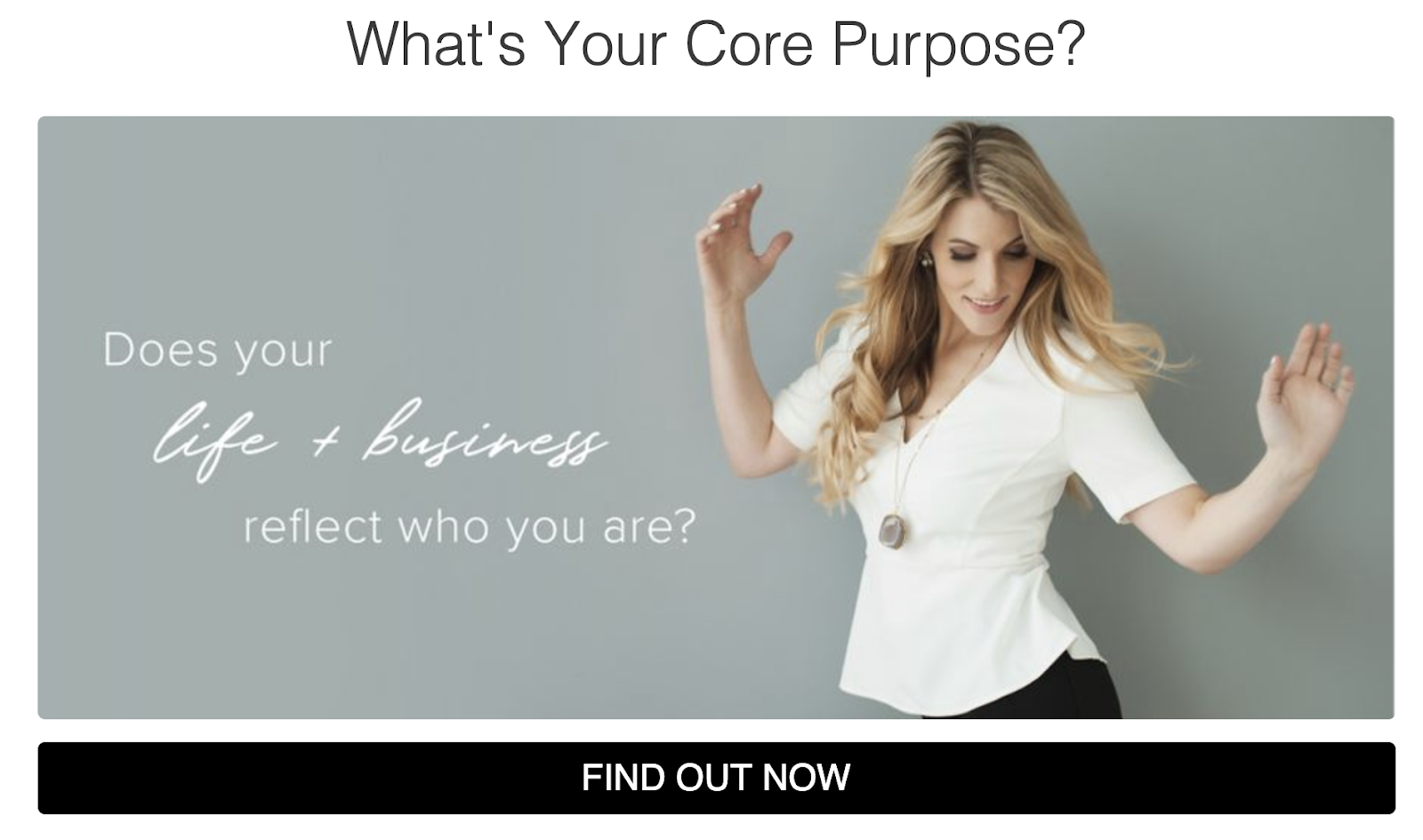 What's your core purpose quiz cover