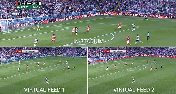 Virtual Replacement Technology was first used in 2018 during a soccer match between England and Costa Rica.