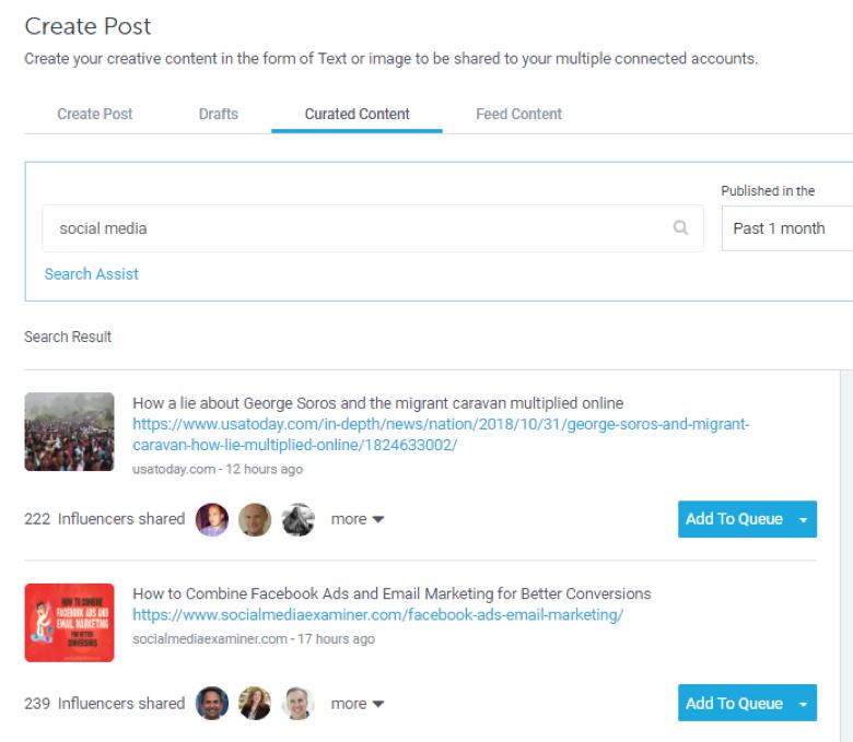 Content curation-socialpilot