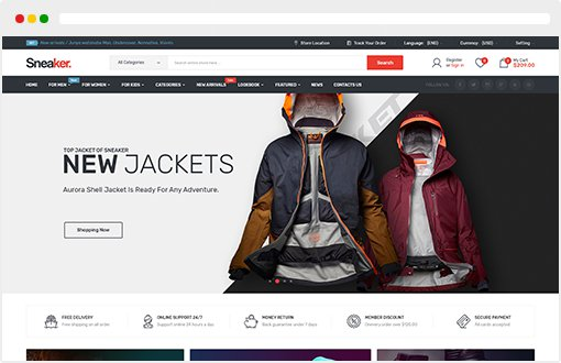 Sneaker - Shoes Responsive OpenCart Theme