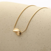 European and American Simple Titanium Steel Necklace Creative Female Fashion Wear Cool Planet Alite Pendant Clavicle Chain Jewelry Supply Wholesale