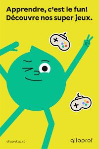 Affiche Alloprof Jeux - Pour les élèves du primaire - Maximum 1 affiche par classe et 25 par commande