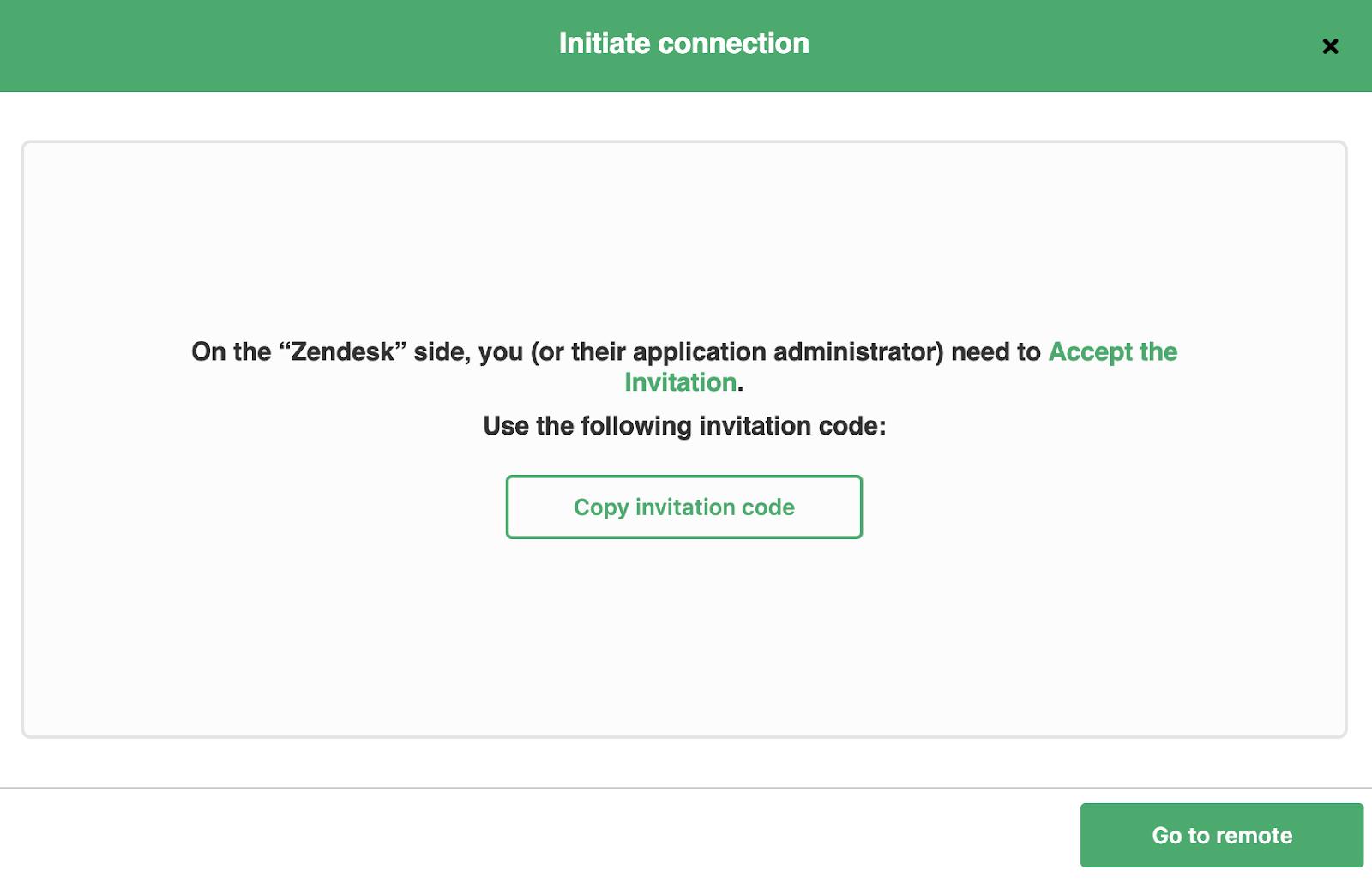 copy exalate invitation code