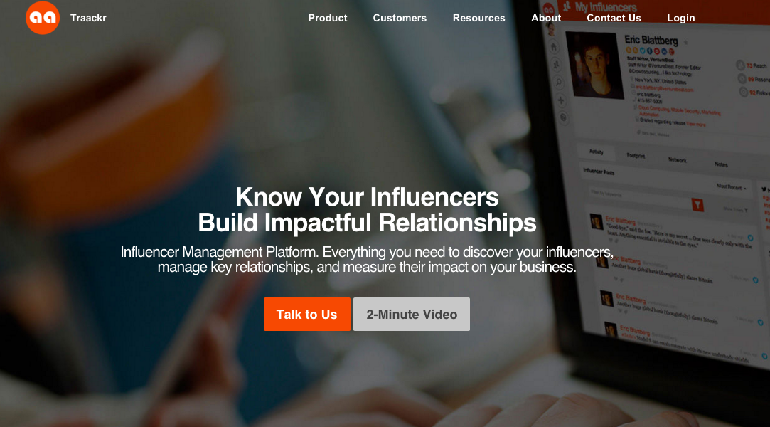 Traackr- migliori piattaforme di Influencer Marketing- growth hacking